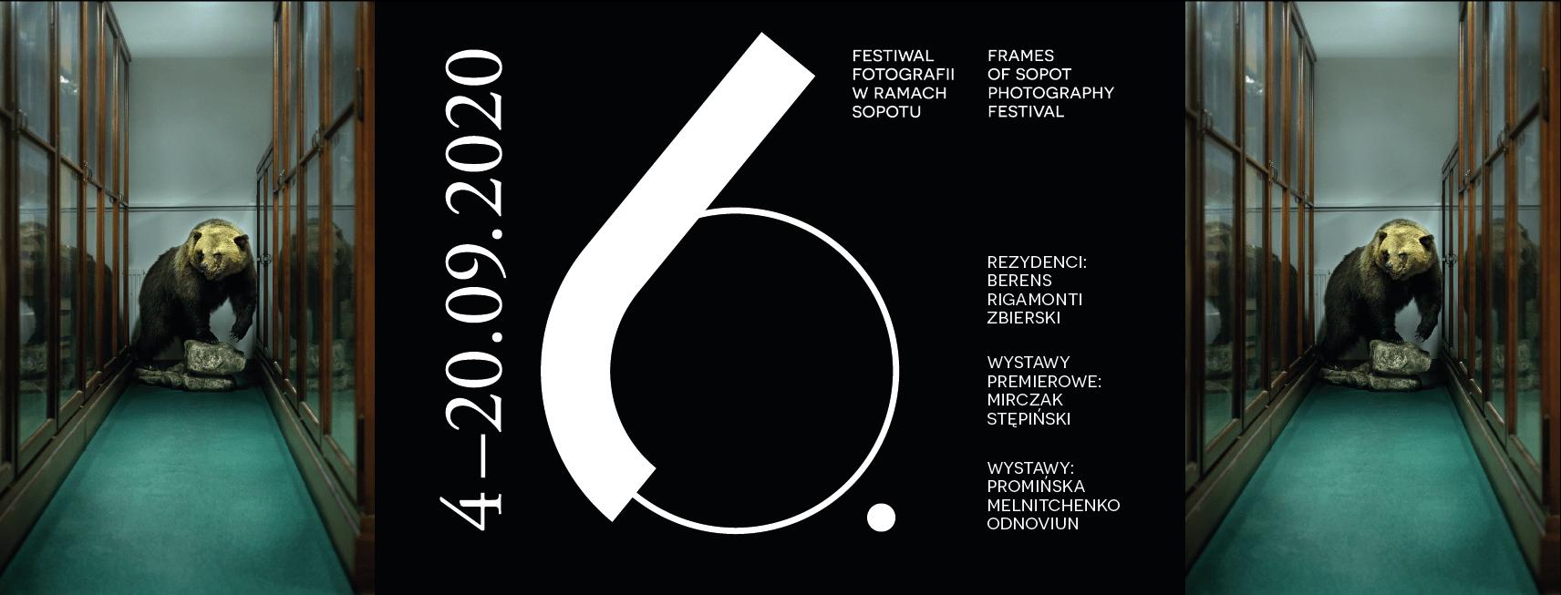 """Plakat Festiwalu Fotografii """"W Ramach Sopotu"""" 6 Edycja"""